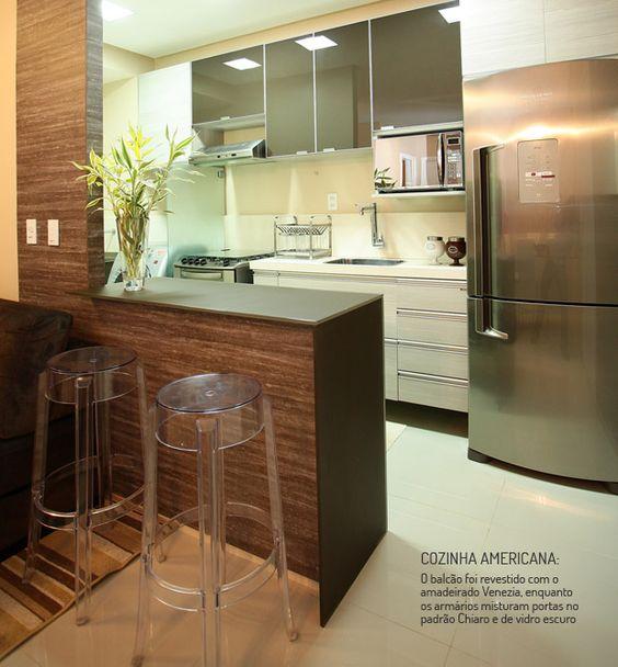 Cozinha americana veja 100 modelos e super dicas para - Armarios para casas pequenas ...