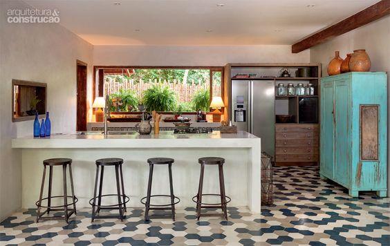 cozinha vintage ampla