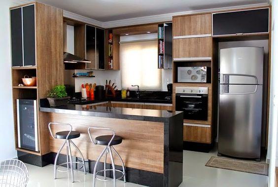 detalhes de madeira na cozinha