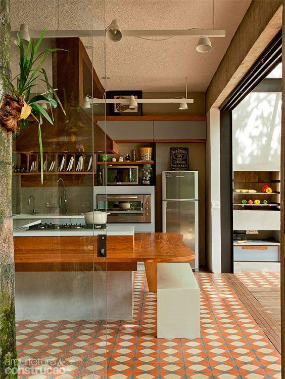 piso decorativo da cozinha