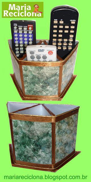porta controles com caixa de leite