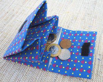porta moedas azul caixa de leite