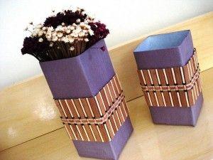 vaso para flores caixa de leite