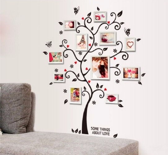 Papel de parede árvore com quadros