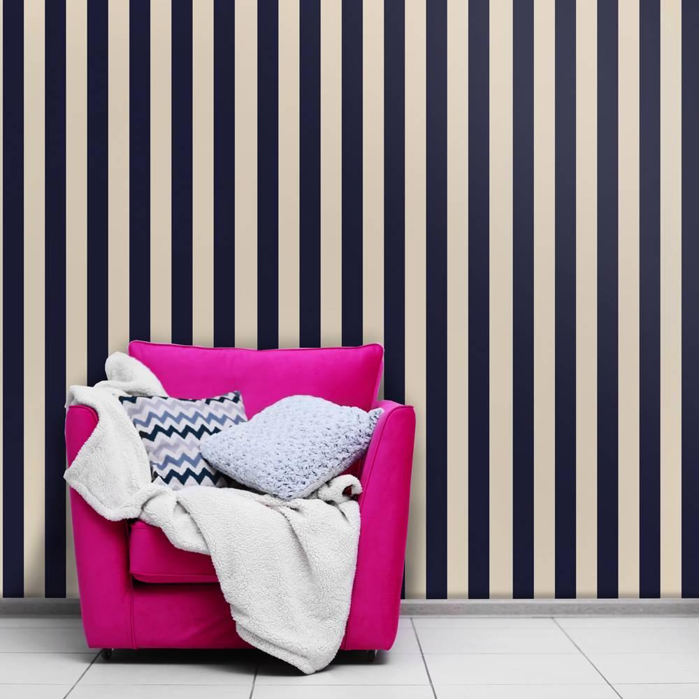 Papel de parede azul marinho