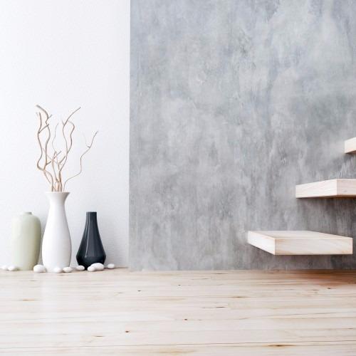 Papel de parede cimento queimado com branco