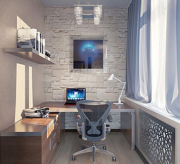 Papel de parede escritório branco