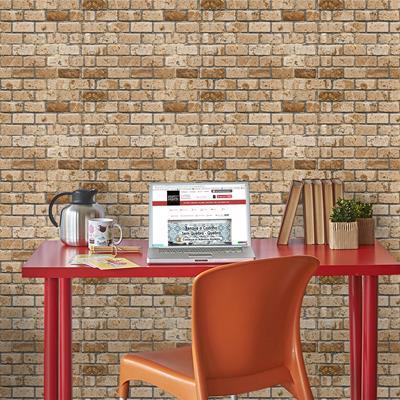 papel de parede de tijolinho marrons