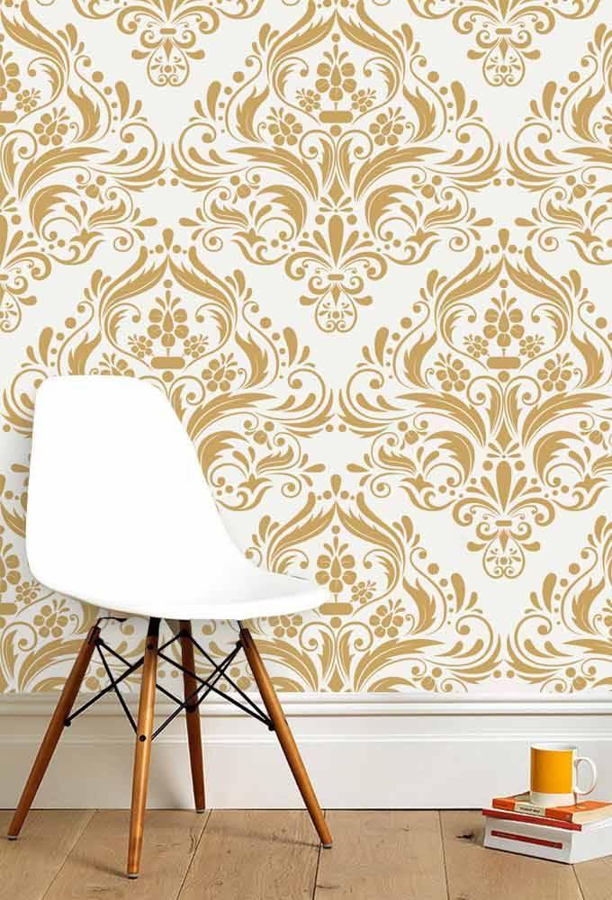 papel de parede dourado
