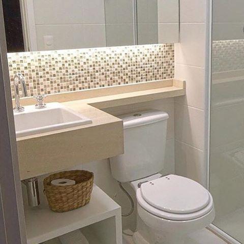 Banheiros pequenos 100 formas diferentes de decorar for Objetos baratos para decorar