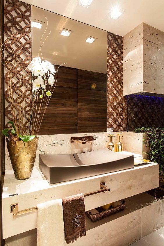 Banheiros pequenos 160 modelos e dicas para decorar - Ambientador natural para casa ...