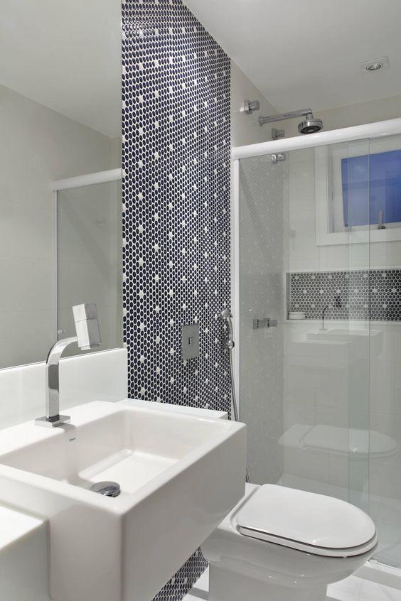 Banheiros Revestidos Simples : Banheiros pequenos formas diferentes de decorar