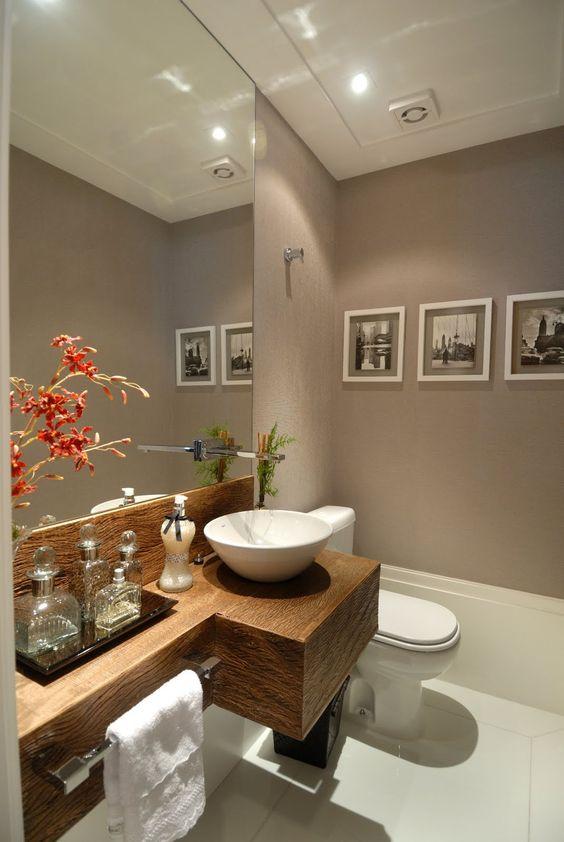 Banheiros Pequenos  100 Formas Diferentes de Decorar Lindamente! -> Banheiros Decorados Casacor