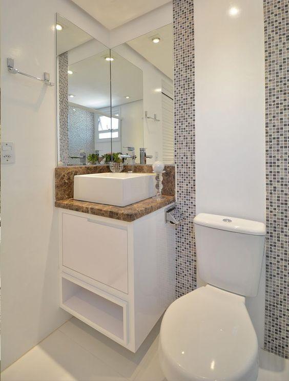 #474625 Banheiros Pequenos 160 Modelos e Dicas Para Decorar Lindamente 564x744 px decoração de banheiros pequenos simples