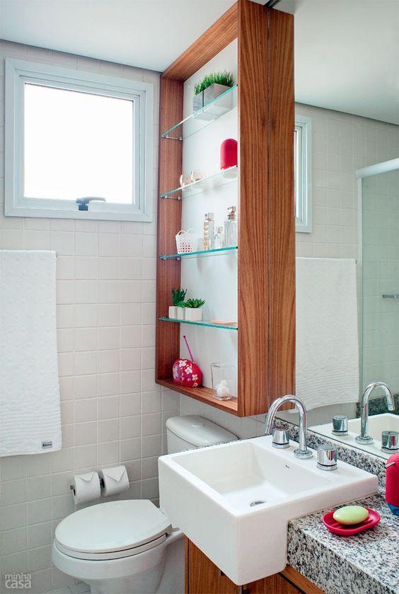 Banheiros Pequenos  100 Formas Diferentes de Decorar Lindamente! -> Banheiro Pequeno Custo