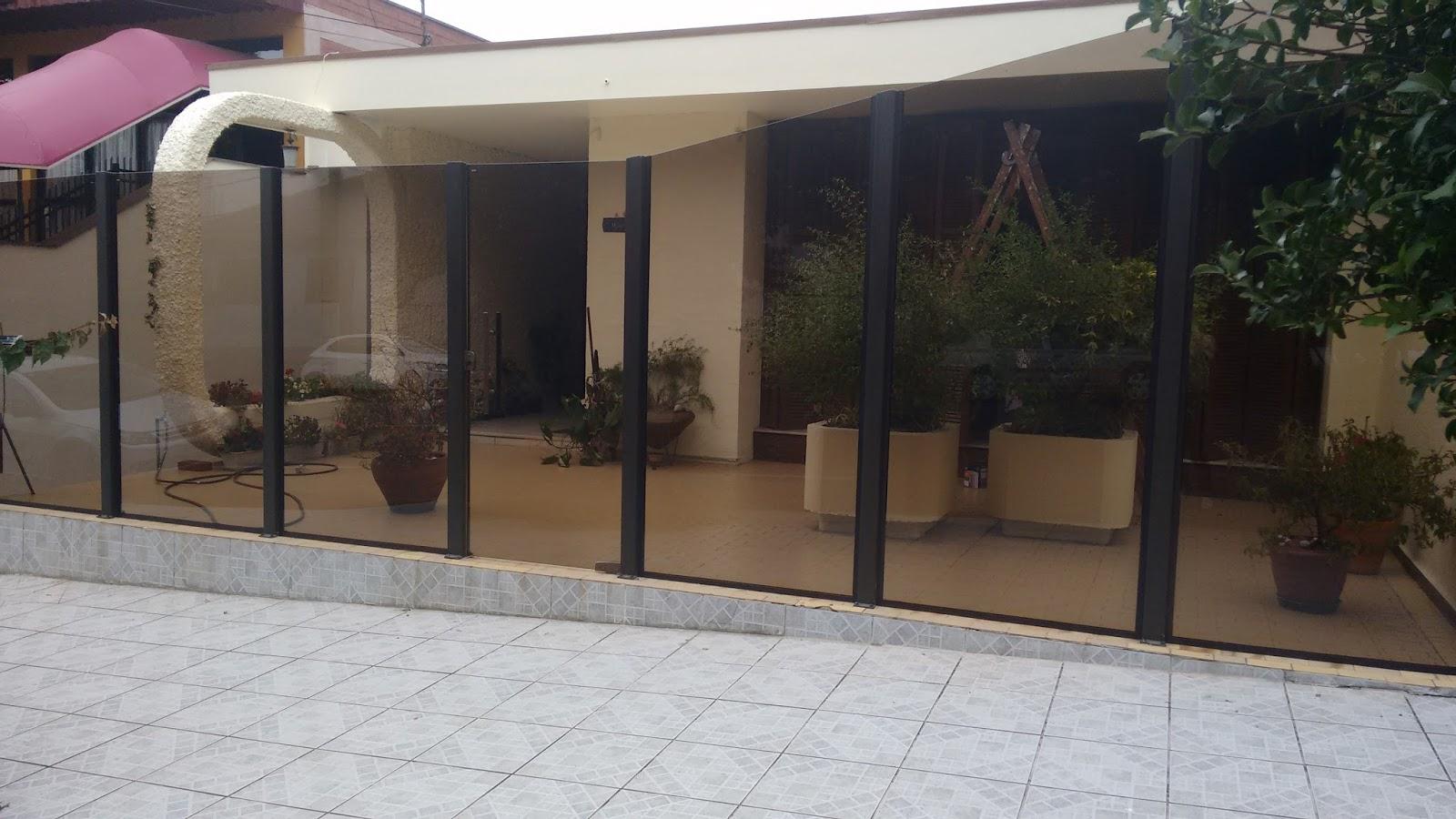 Muro de vidro bronze