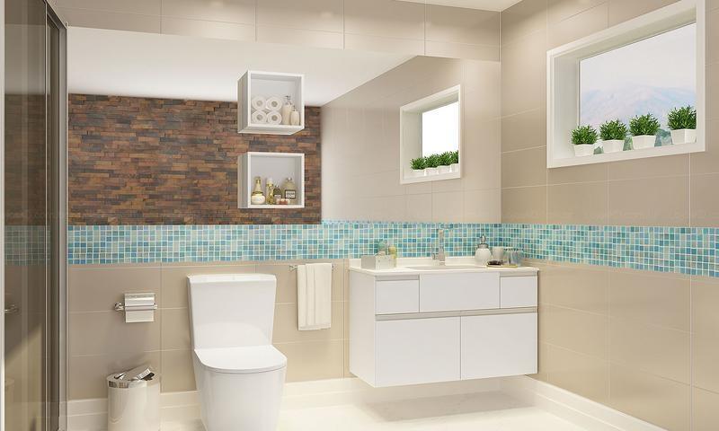 Banheiros decorados  40 modelos com fotos lindos para você! -> Nicho Banheiro Altura
