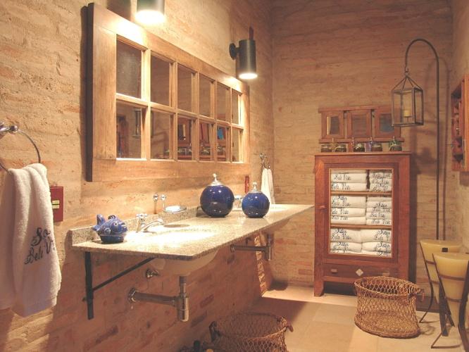 Banheiros Pequenos  100 Formas Diferentes de Decorar Lindamente! -> Decorar Banheiro Rustico