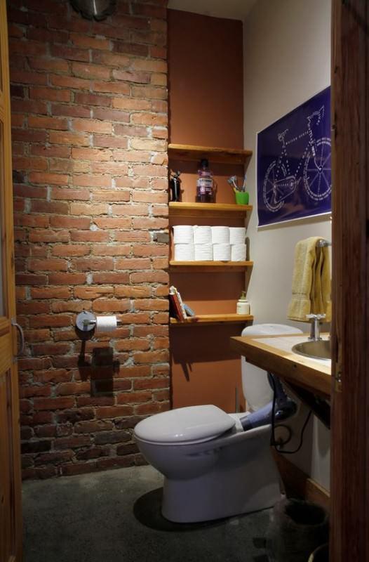 Banheiros Pequenos  100 Formas Diferentes de Decorar Lindamente! -> Banheiro Simples De Sitio