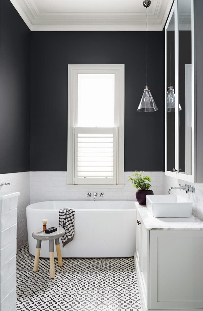 banheiros preto e branco