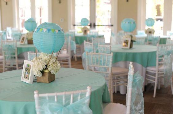 Ch de beb mais de 60 ideias para seu ch de fraldas - Centros decorativos para mesas ...