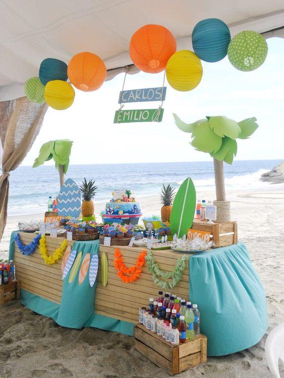 Festa tropical e festa havaiana veja de 60 ideias for 21st b day decoration ideas