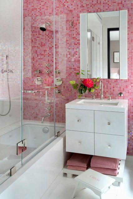 Banheiros decorados  40 modelos com fotos lindos para você! -> Banheiro Pequeno Mas Lindo
