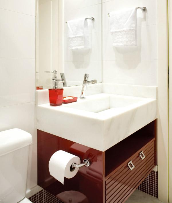 Banheiros Pequenos  100 Formas Diferentes de Decorar Lindamente! -> Banheiro Pequeno Marmore