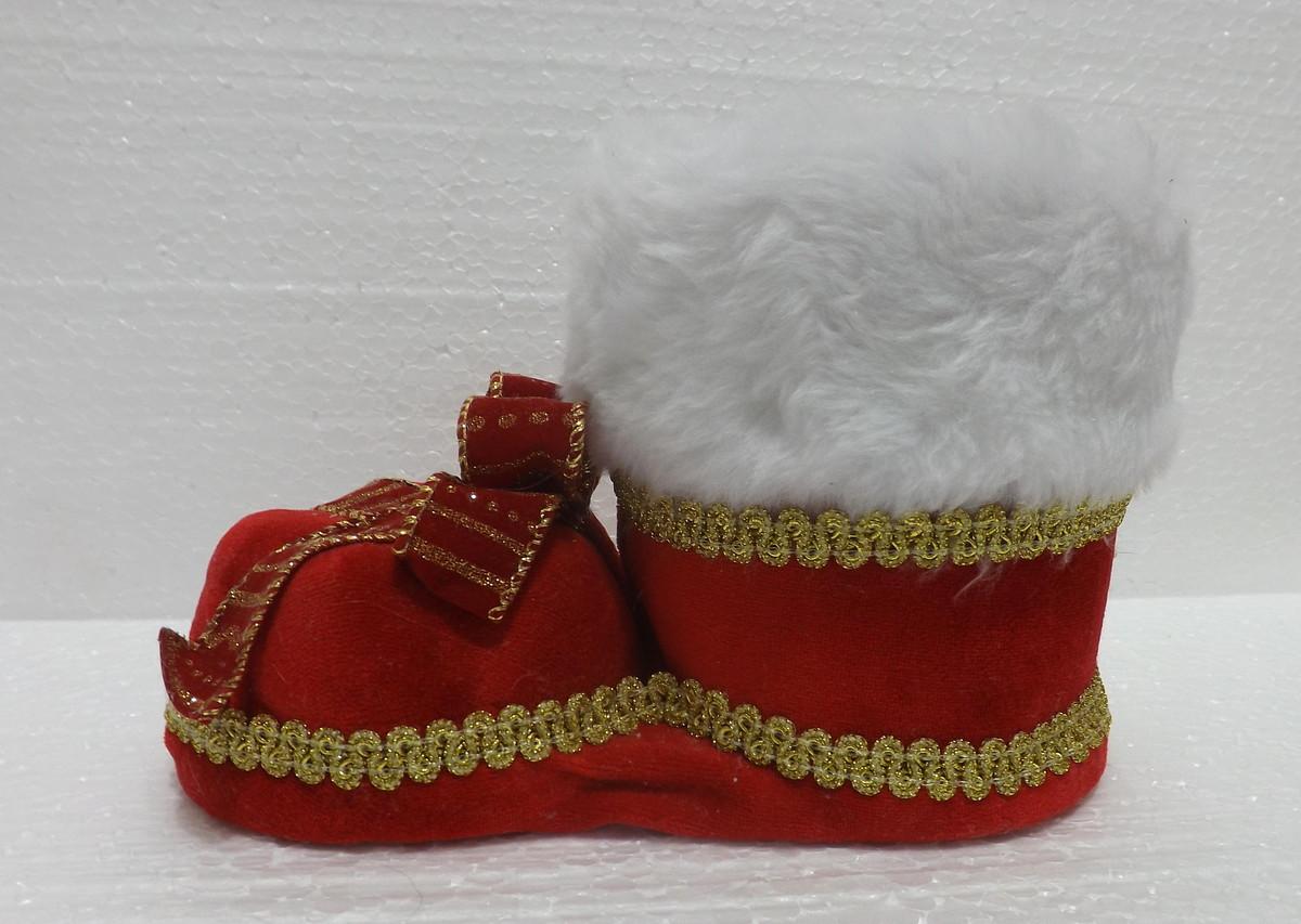 Bota de natal artesanal feita com garrafa pet