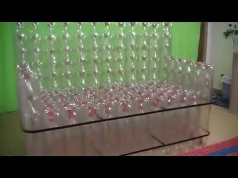 SofáArtesanal feito com garrafa pet