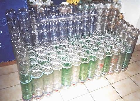 Sofágrande Artesanal feito com garrafa pet