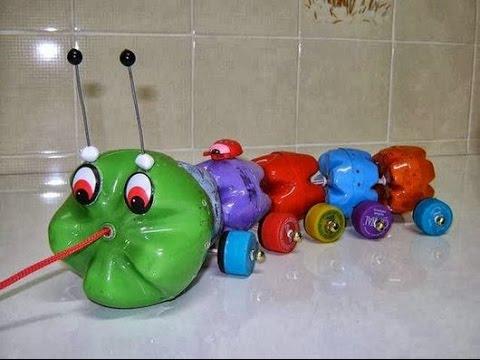 artesanato com garrafa pet brinquedos