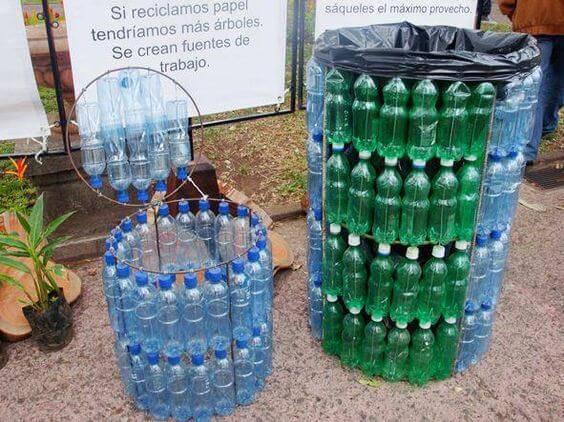 artesanato com garrafa pet de agua mineral