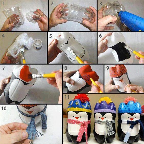 como-fazer-penquim-com-garrafa-pet
