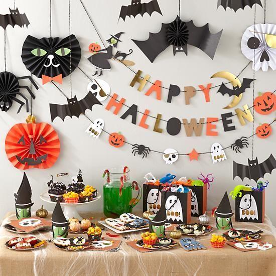 Decoração de festa de halloween simples