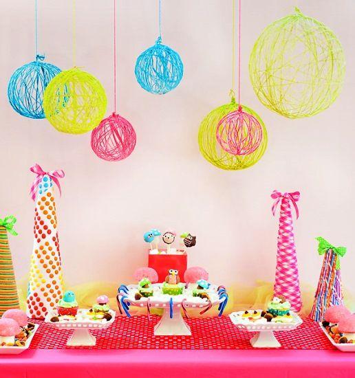 Decoração de festa infantil simples e baratoo
