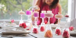 Decoração de mesa de jantar para aniversario com velas