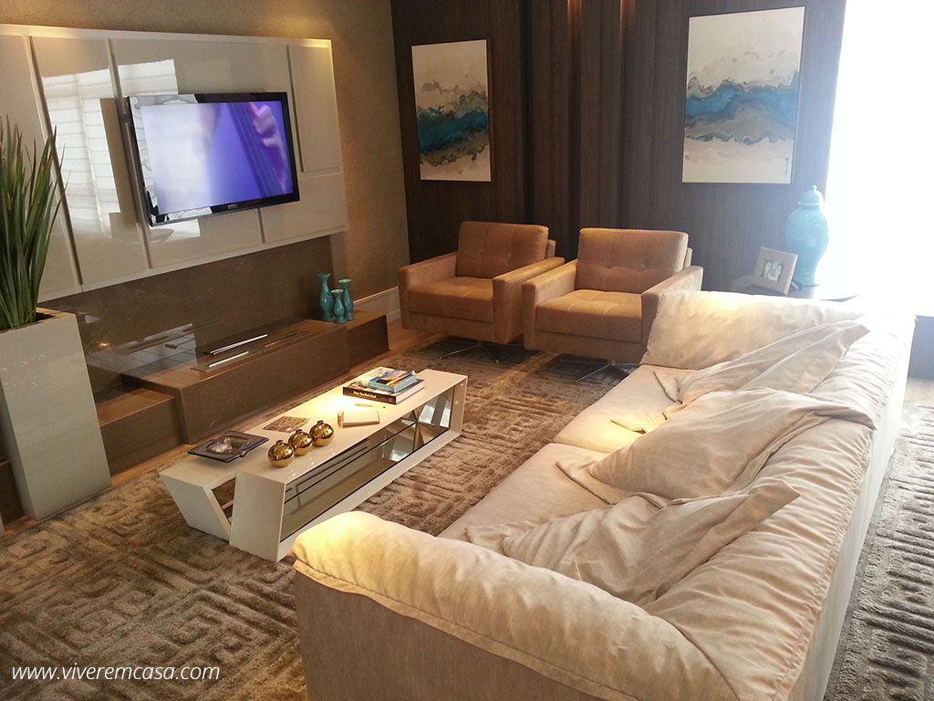 #43388C Decoração de sala pequena com sofá marrom e mesa de centro 1024x768 píxeis em Como Decorar Uma Sala Pequena De Forma Barata