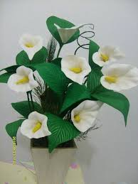 arranjos de flores de eva copo de leite