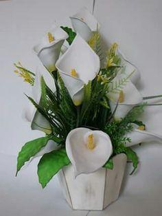 arranjos de flores de eva copo de leitee