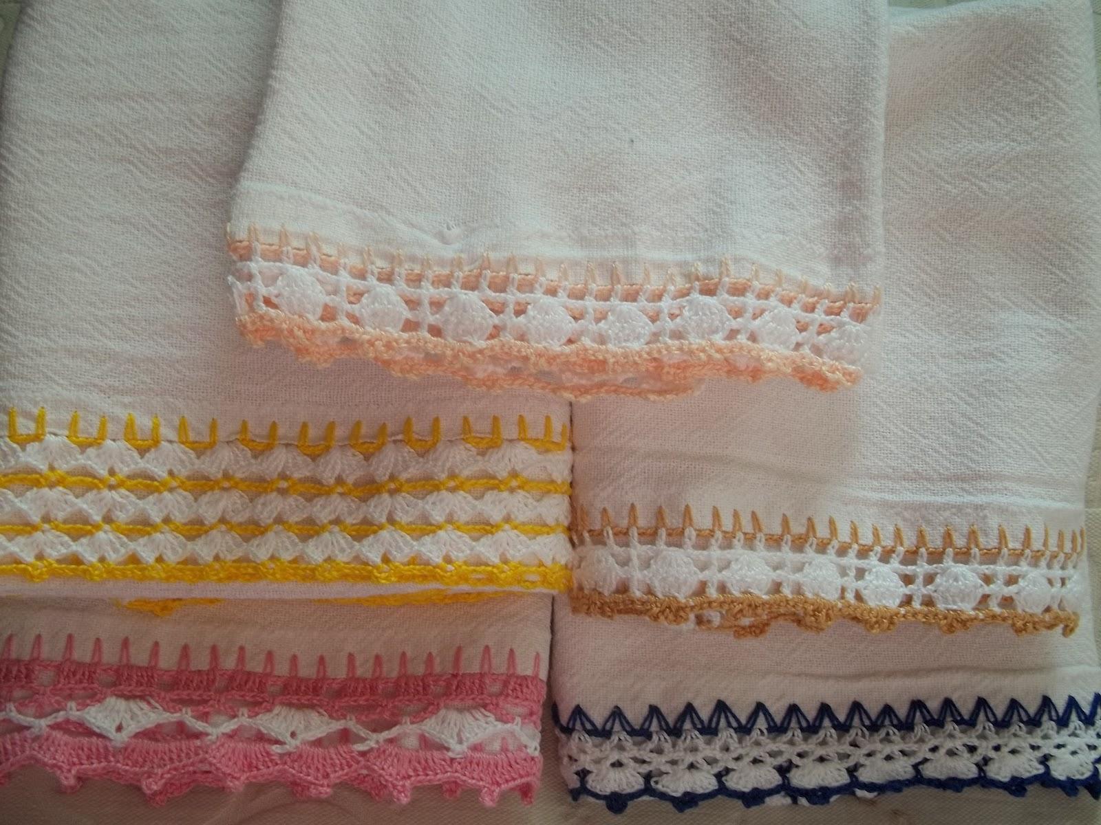 bicos de crochê de guardanapo diversos