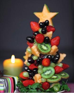 como preparar mesa de frutas para o ano novo