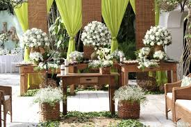 decoração de festa de casamento rustico