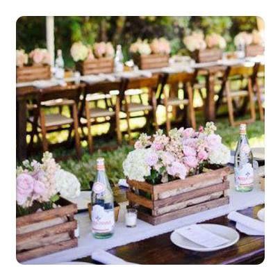 decoração de festa de casamento rusticoo