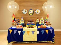 decoração de festa infantil simples dos minions