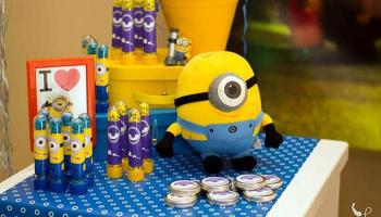 decoração de festa infantil simples dos minionss