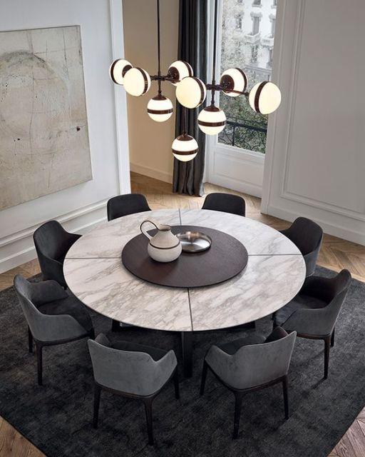 decoração rustica na mesa com formato redondo