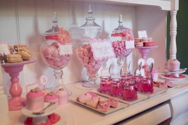 doces rosas para festa infantil bailarina