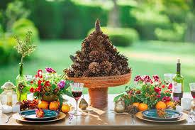 mesa de frutas para casamento rusticoo