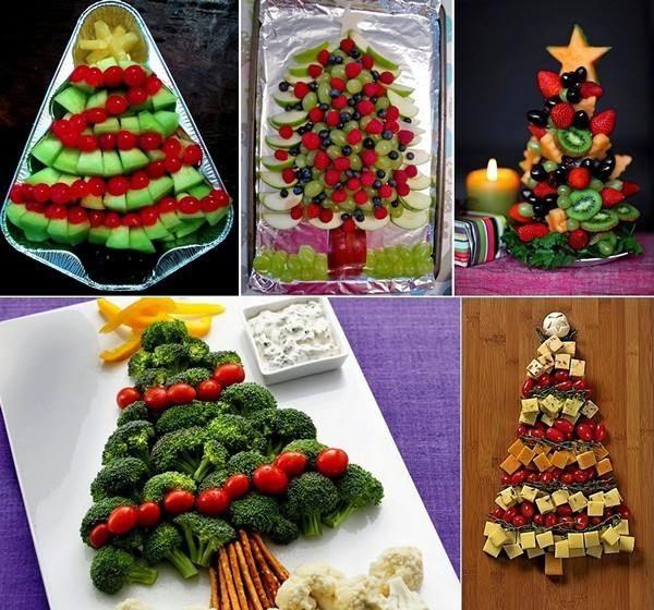 mesa de frutas simples para o natall
